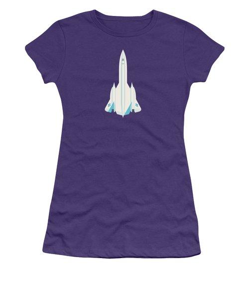 Sr-71 Blackbird Us Air Force Jet Aircraft - Slate Women's T-Shirt (Junior Cut)