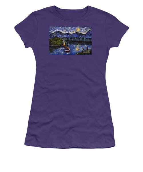 Starry Lake Women's T-Shirt (Athletic Fit)