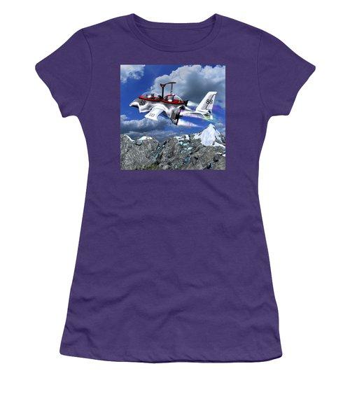 Stowing The Lift Women's T-Shirt (Junior Cut) by Dave Luebbert