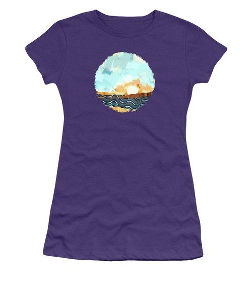 Summer Beach Sunset Women's T-Shirt (Athletic Fit)
