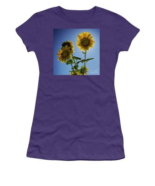 Women's T-Shirt (Junior Cut) featuring the photograph Sun Flowers by Brian Jones