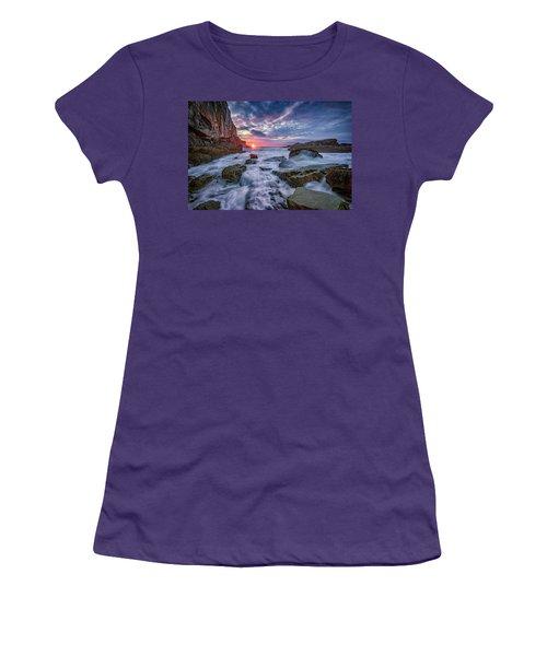 Sunrise At Bald Head Cliff Women's T-Shirt (Junior Cut) by Rick Berk