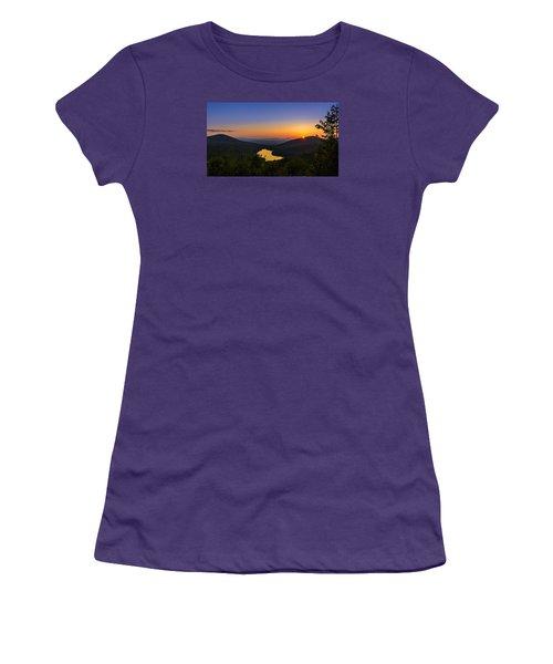 Sunset At Owls Head Women's T-Shirt (Junior Cut) by Tim Kirchoff