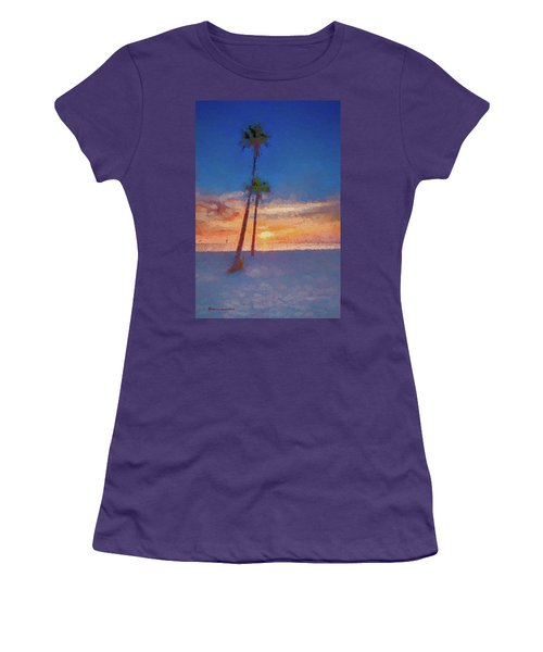 Women's T-Shirt (Junior Cut) featuring the photograph Swaying Palms by Marvin Spates