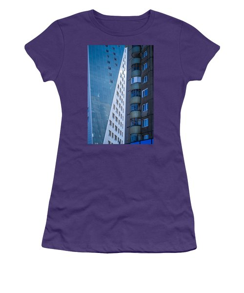 Women's T-Shirt (Junior Cut) featuring the photograph Synergy Between Old And New Apartments by John Williams