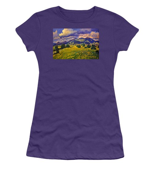 Taos Fields Of Yellow Women's T-Shirt (Athletic Fit)