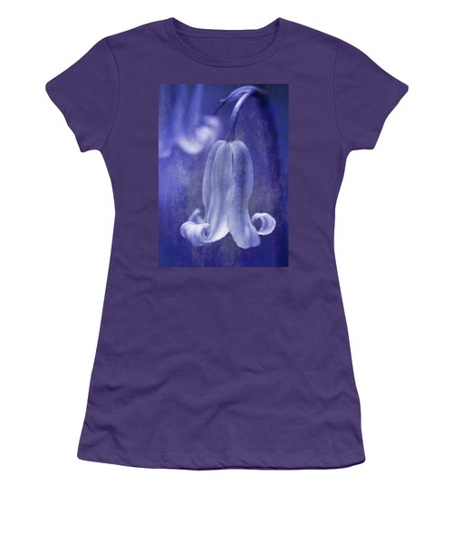 Textured Bluebell In Blue Women's T-Shirt (Athletic Fit)