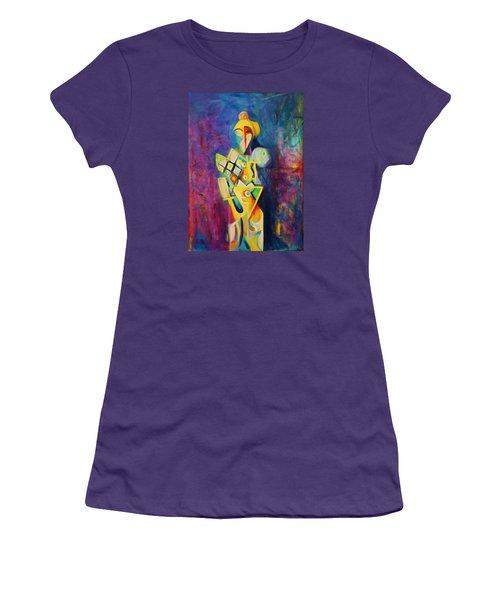 The Clown Women's T-Shirt (Junior Cut) by Kim Gauge