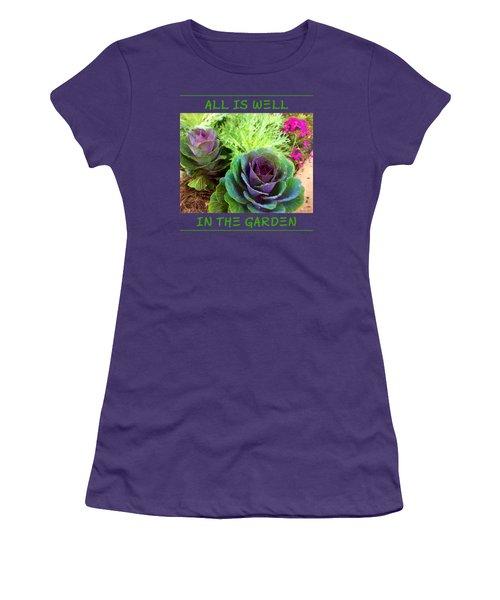The Healing Garden Women's T-Shirt (Junior Cut) by Korrine Holt