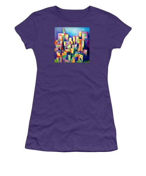 The Houses Women's T-Shirt (Junior Cut) by Kim Gauge