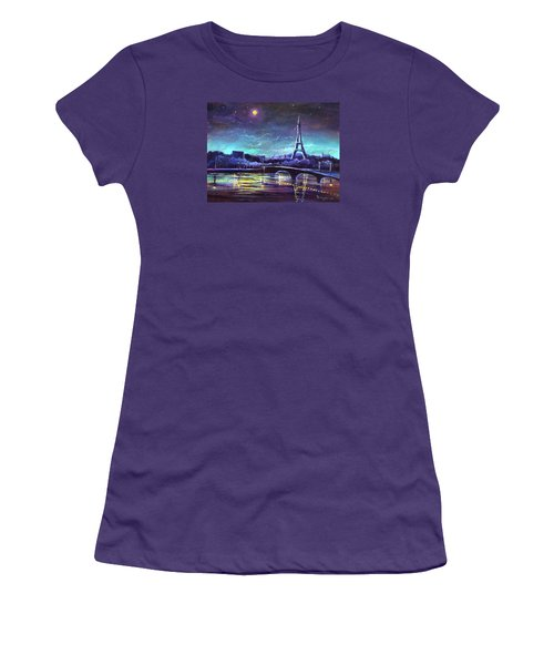 The Lights Of Paris Women's T-Shirt (Athletic Fit)