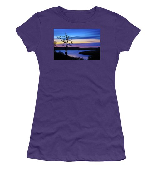 The Naked Tree At Sunrise Women's T-Shirt (Junior Cut) by Semmick Photo