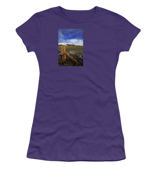 Women's T-Shirt (Junior Cut) featuring the photograph The Ochils In Winter by Jeremy Lavender Photography