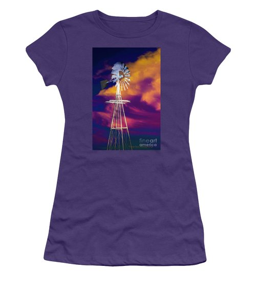 The Old Windmill  Women's T-Shirt (Junior Cut) by Toma Caul