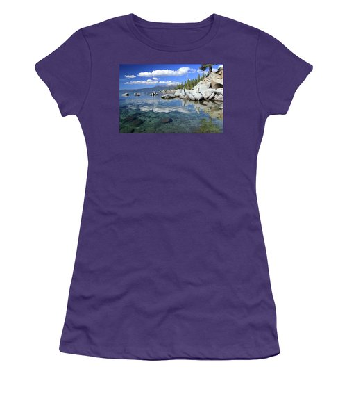 Women's T-Shirt (Athletic Fit) featuring the photograph The Path To Reflection by Sean Sarsfield