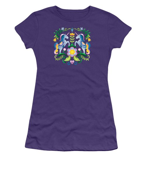 The Royal Society Of Cute Unicorns Women's T-Shirt (Athletic Fit)