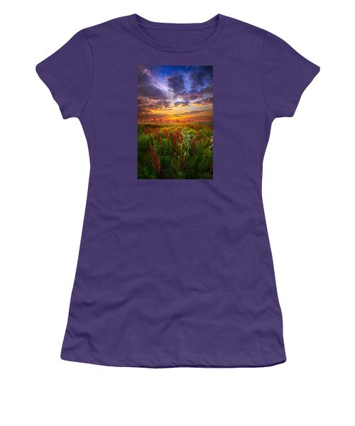 The Whispered Voice Within Women's T-Shirt (Junior Cut) by Phil Koch