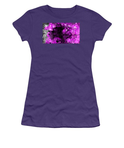 Women's T-Shirt (Junior Cut) featuring the painting The Woods by Antonio Romero