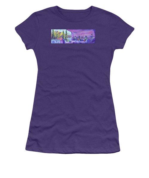 Thin Air At Dillon Amphitheater Women's T-Shirt (Junior Cut) by David Sockrider
