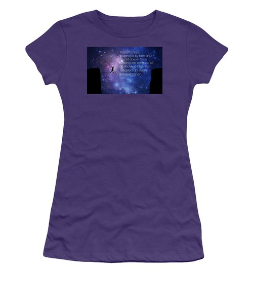 Tightrope Of Life Women's T-Shirt (Athletic Fit)