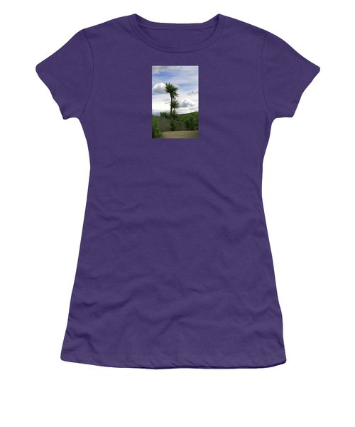 Women's T-Shirt (Athletic Fit) featuring the photograph To Kouka Cabbage Tree by Nareeta Martin