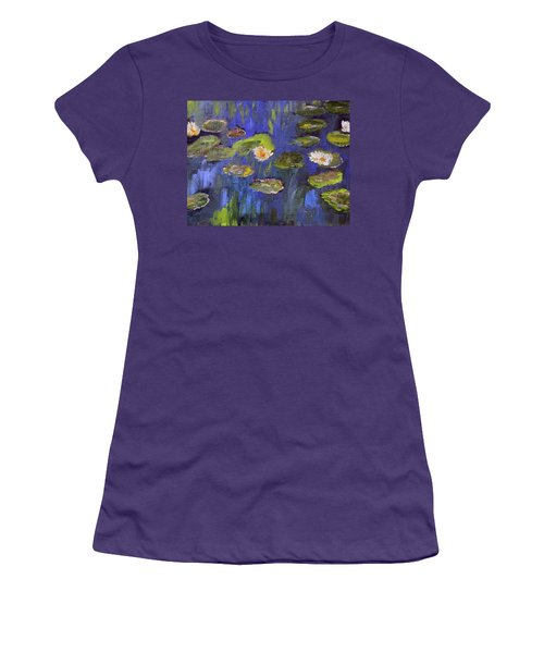 Women's T-Shirt (Junior Cut) featuring the painting Tribute To Monet by Michael Helfen
