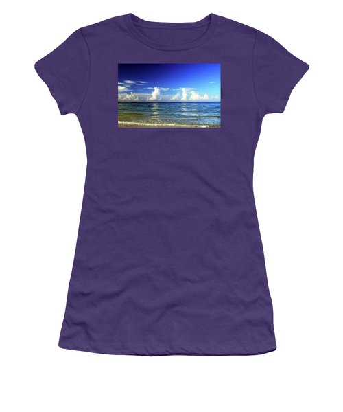 Women's T-Shirt (Athletic Fit) featuring the photograph Tropical Storm Brewing by Gary Wonning