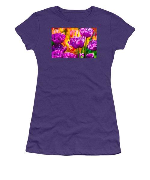 Women's T-Shirt (Junior Cut) featuring the photograph Tulips Enchanting 41 by Alexander Senin