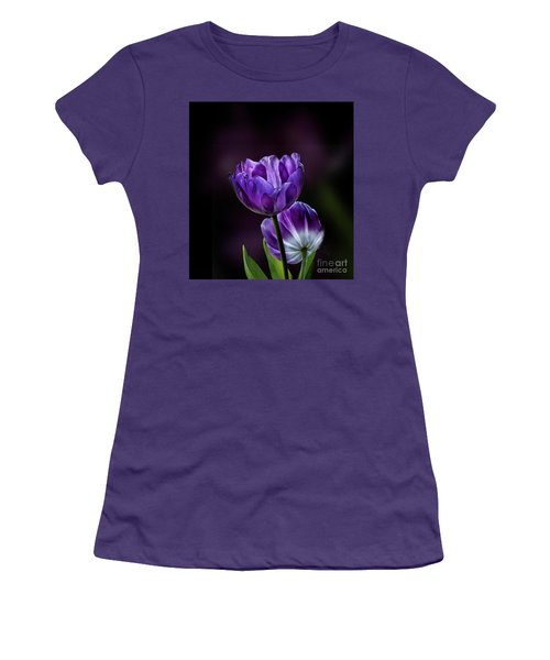 Tulips Women's T-Shirt (Junior Cut) by Shirley Mangini