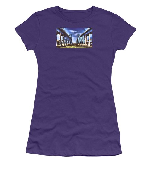 Twin Spanned Arched Women's T-Shirt (Junior Cut) by Jim Lepard