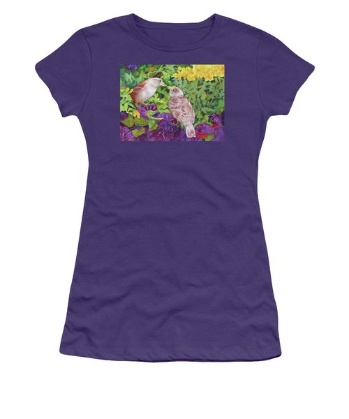 Women's T-Shirt (Junior Cut) featuring the painting Unconditional Love by Judy Mercer
