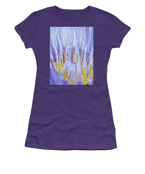 Water Lily Nature Fingers Women's T-Shirt (Junior Cut) by Carol F Austin
