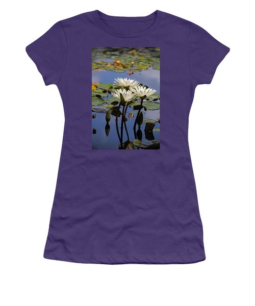 Water Lily Reflections Women's T-Shirt (Athletic Fit)