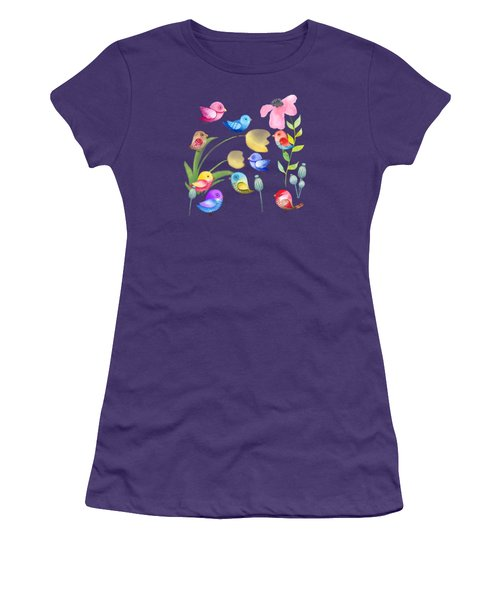 Watercolor Garden Party Women's T-Shirt (Athletic Fit)