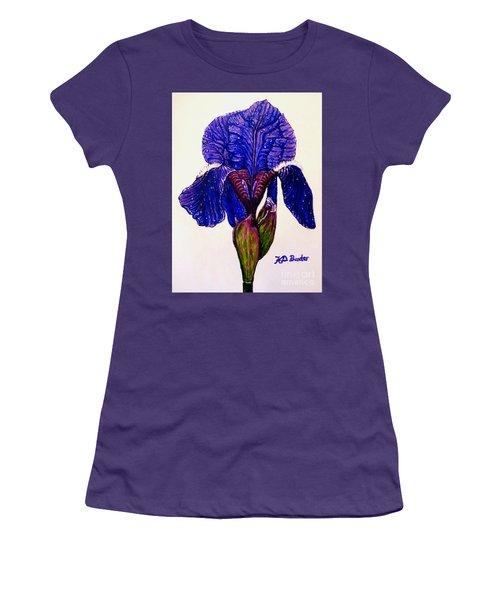 Weeping Iris Women's T-Shirt (Junior Cut) by Kimberlee Baxter