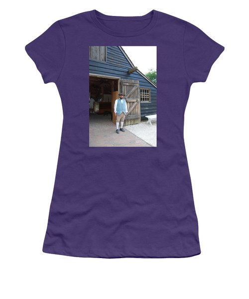 Women's T-Shirt (Junior Cut) featuring the photograph Welcome by Eric Liller