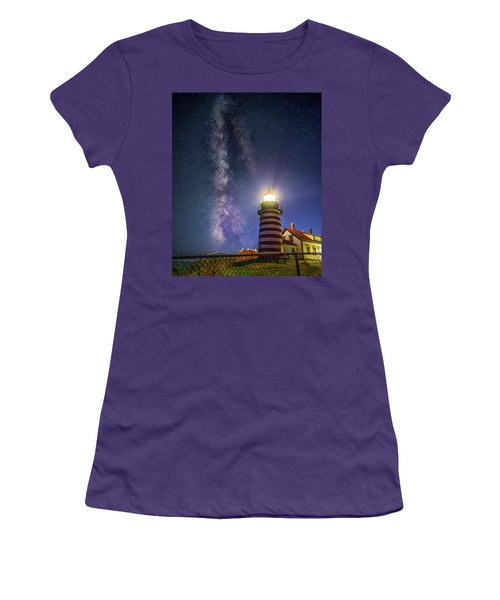 West Quoddy Head Lighthouse Women's T-Shirt (Athletic Fit)