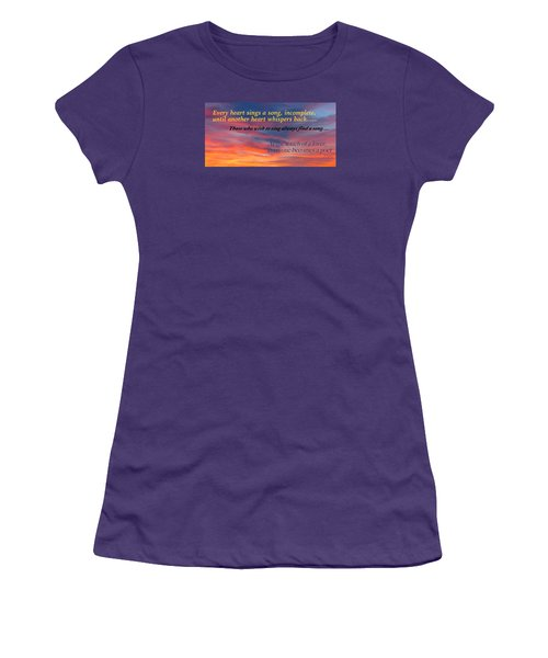 Whisper Women's T-Shirt (Junior Cut) by David Norman