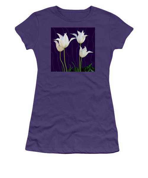 White Tulips For A New Age Women's T-Shirt (Athletic Fit)
