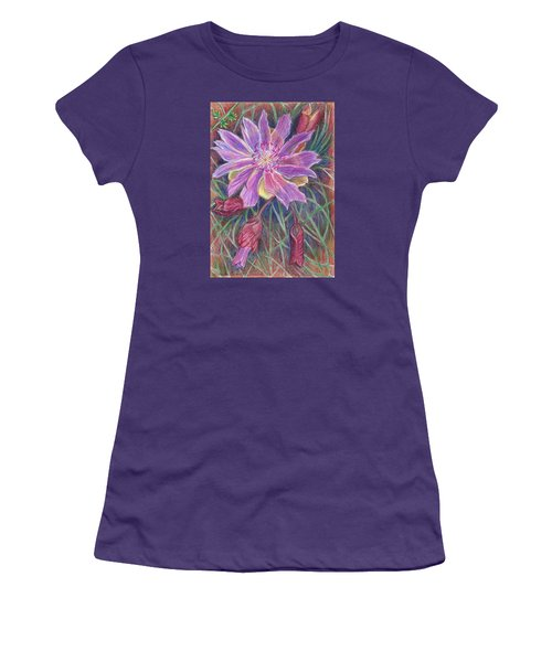 Women's T-Shirt (Junior Cut) featuring the drawing Wild Bitterroot Flower by Dawn Senior-Trask
