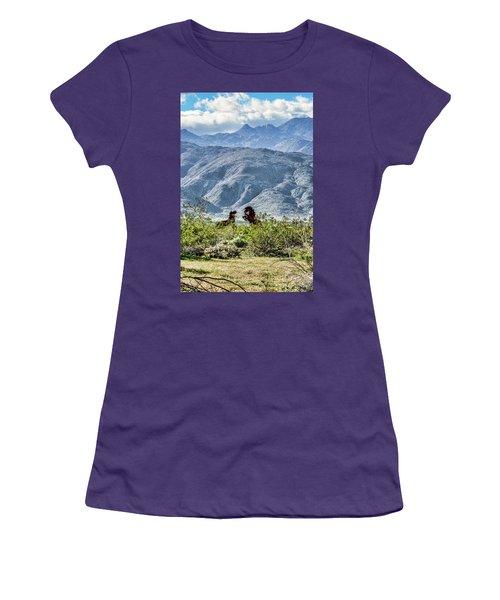 Wild Metal Mustangs Women's T-Shirt (Junior Cut) by Daniel Hebard