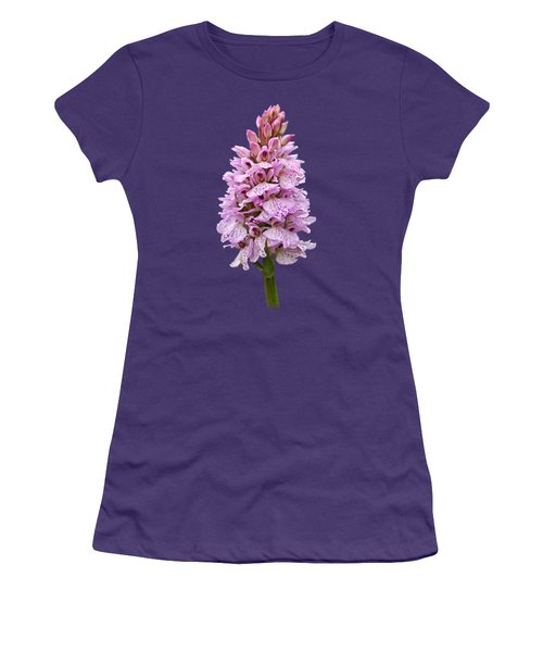 Wild Pink Spotted Orchid Women's T-Shirt (Junior Cut) by Gill Billington