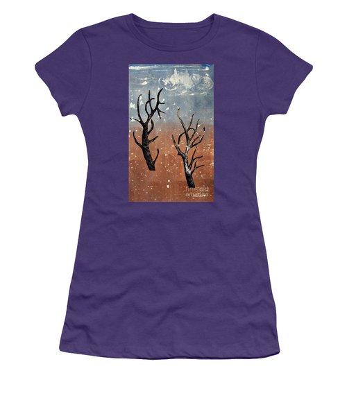 Winter Day Women's T-Shirt (Junior Cut) by Sarah Loft
