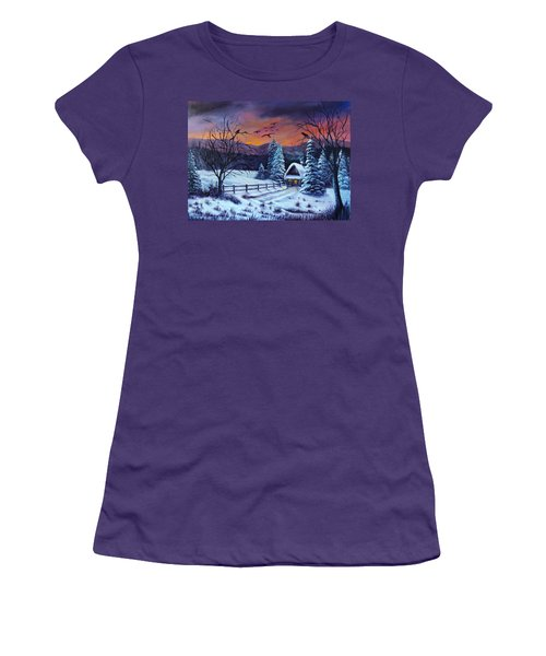 Winter Evening 2 Women's T-Shirt (Athletic Fit)