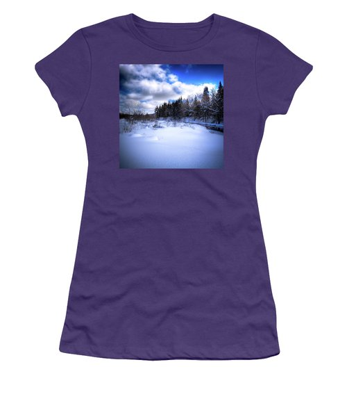 Women's T-Shirt (Junior Cut) featuring the photograph Winter Highlights by David Patterson