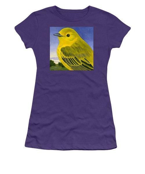Yellow Warbler Women's T-Shirt (Junior Cut) by Francois Girard