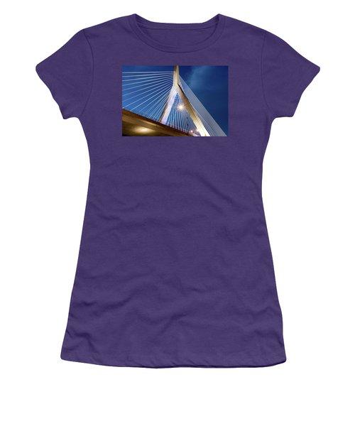 Zakim Bridge Upclose Women's T-Shirt (Athletic Fit)