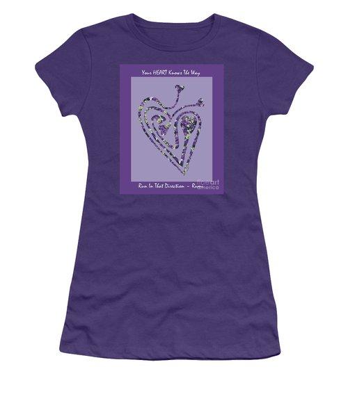Zen Heart Labyrinth Floral Women's T-Shirt (Athletic Fit)