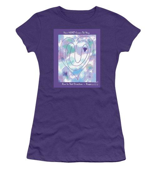 Zen Heart Labyrinth Pastel Women's T-Shirt (Athletic Fit)