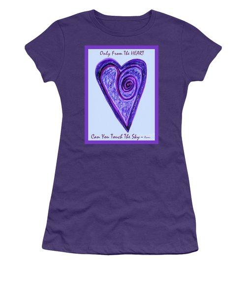 Zen Heart Pink Purple Vortex Women's T-Shirt (Athletic Fit)